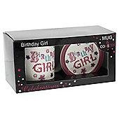 Birthday Girl Mug and Coaster