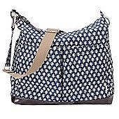 OiOi Mini Geo 2-Pocket Hobo Changing Bag Monaco Blue
