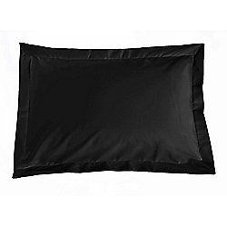 Julian Charles Percale Black Luxury 180 Thread Count Oxford Pillowcases