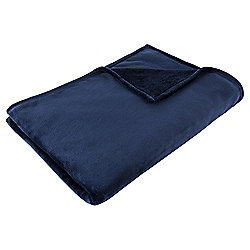 Super Soft Fleece Throw, Navy