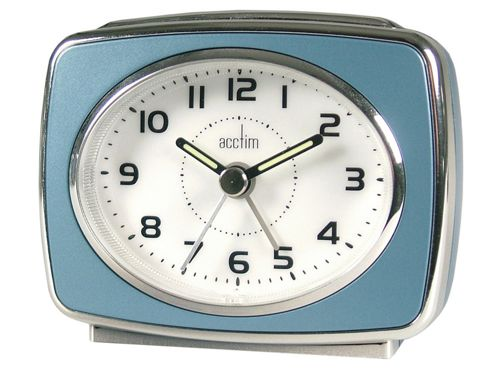 Acctim 13879 Retro 2 Alarm Clock Blue