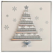 Tesco Luxury Rollwrap Christmas Tree Cards, 6 Pack