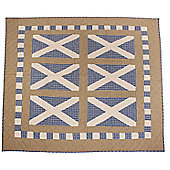 Woven Magic Scotland Flag Patriotic Plaids Crib Throw