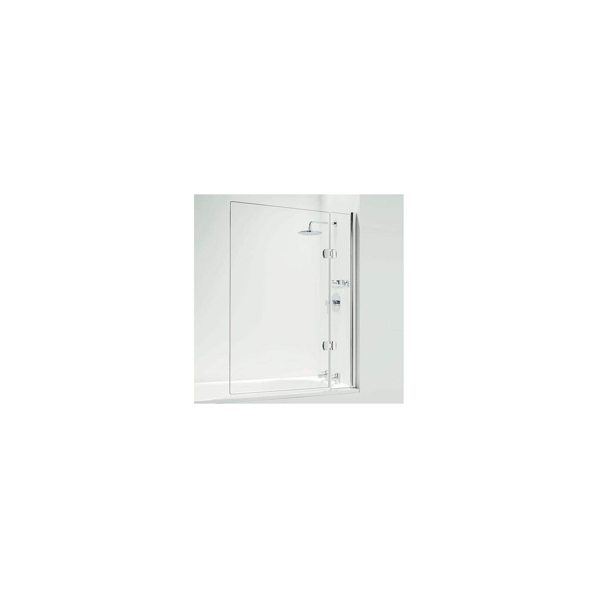 Coram Designer Hinged Square Bath Screen 1400mm High x 1050mm Wide - 5mm Glass at Tesco Direct