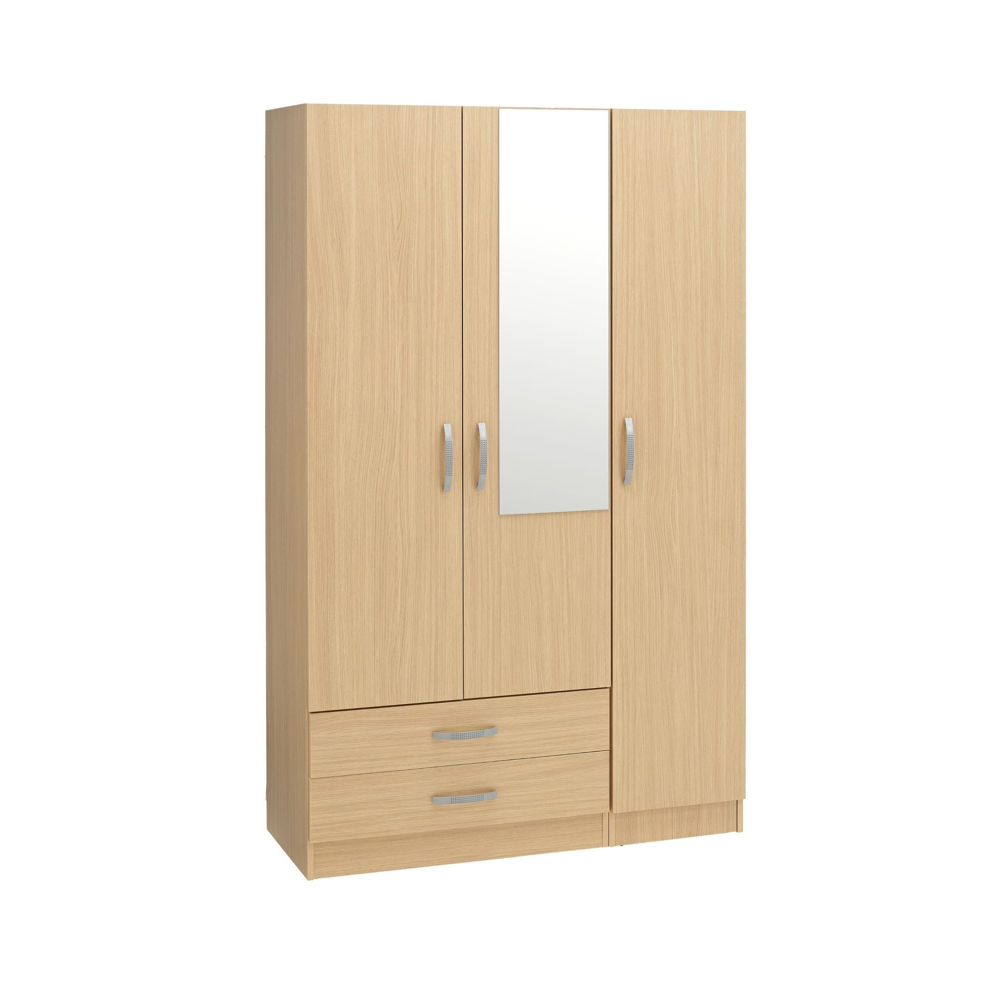 Ideal Furniture Budapest 3 Door Wardrobe - Walnut at Tesco Direct