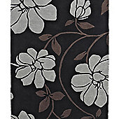 Think Rugs Fusion Black/Silver Tufted Rug - 120 cm x 170 cm (3 ft 9 in x 5 ft 7 in)