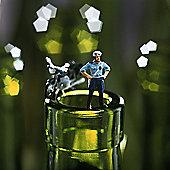 Holy Mackerel Motorbike And Policeman On Bottleneck Greetings Card