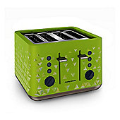 Morphy Richards 248105 4 Slice Toaster, with 1800W, and Variable Browning Control, in Green