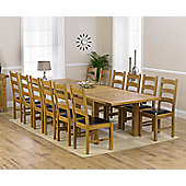 Mark Harris Furniture Rustique Classical Solid Oak Dining Table with Valencia Dining Chairs