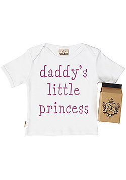 Spoilt Rotten - Daddy's Little Princess Baby & Toddler T-Shirt in Milk Carton - White