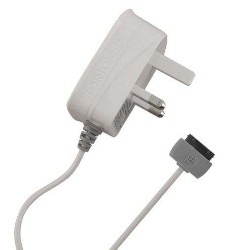Tortoise™ Ultra Mains Charger, Suitable for iPhone 4/4S. White