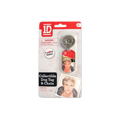 Niall Dog Tag & Chain - One Direction - Golden Bear
