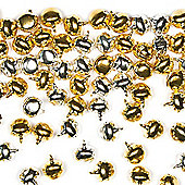 Gold & Silver Jingle Bells for Children to add to Crafts (Pack of 150)