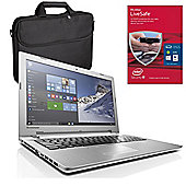 "Lenovo IdeaPad 500 80K40010UK 15.6"" Laptop With MCAFEE LiveSafe & Case"