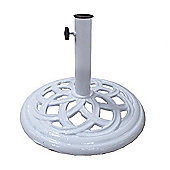 Bentley Garden Cast Iron 9kg White Umbrella Base