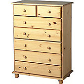 Sol 5+2 Drawer Chest in Antique Pine - 7 Chest/Table/Cabinet - Solid Pine