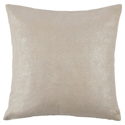 Tesco Crackle Silver Cushion