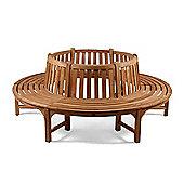 Full Round Teak Tree Seat/Bench