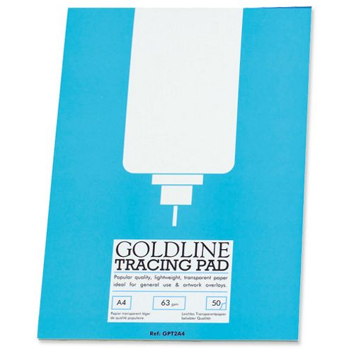 Goldline Popular Tracing Pad 63gsm 50 Sheets A4 Ref GPT2A4Z
