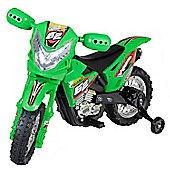 6V Off Road Ride On Motorbike Green