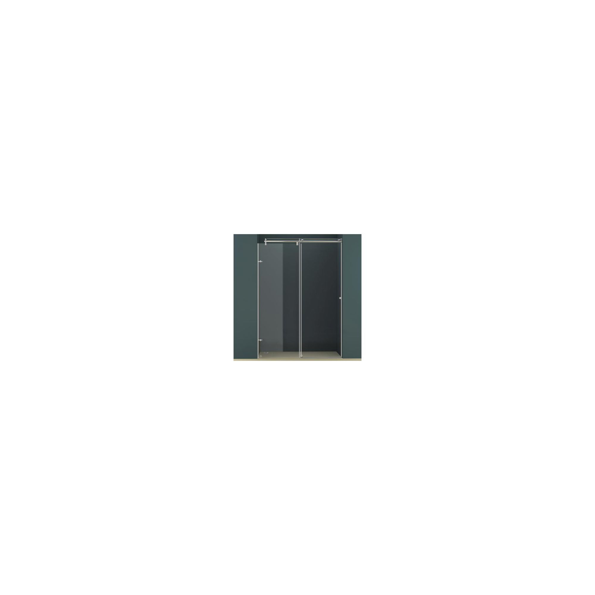 Vessini K Series Sliding Shower Door, 1200mm Wide, 10mm Glass at Tesco Direct