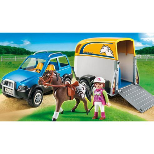 Playmobil 5223 Car with horse trailer