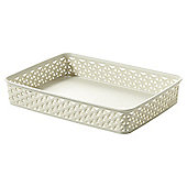 Curver My Style Storage Tray, Cream