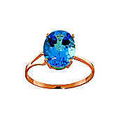 QP Jewellers 2.20ct Blue Topaz Marvel Ring in 14K Rose Gold