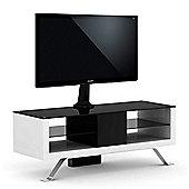 Elmob Arcadia 120-11-FX White Cantilever TV Stand