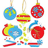 Felt Bauble Decorations Kits (Pack of 6)