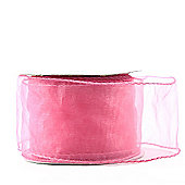 "Ribbon Organza Wired Edge - 2.5"" x 10y - Pink"