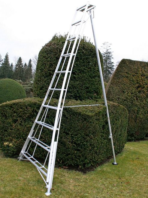 Trade 3.6m (11.8ft) Adjustable - Garden Hedge Cutting Tripod Ladder