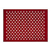 Lorena Canals Estrellitas Red Children's Rug - 140 cm x 200 cm (4 ft 6 in x 6 ft 6 in)