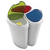 A.B.M. Lotus Recycling Bin 3pk Blue/Green/Red