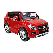 Kids Electric Car Mercedes Benz M Class Twin Seat 12 Volt Red Gloss