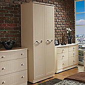 Welcome Furniture Coniston Plain Wardrobe - Cream - 197cm H