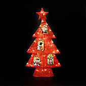 80cm/31in Red Illuminated Sisal Tree with 50 White LEDs