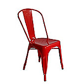 Xavier Pauchard Tolix Style Dining Chair Red