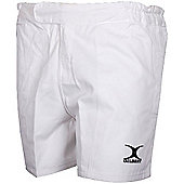 Gilbert Swift White Rugby Shorts - White