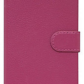 "Tortoiseâ""¢ Genuine Leather Folio Case Samsung Galaxy S6 Black/Pink"