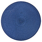 Round Placemats, Blue, 2 Pack