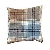 McAlister Angus Cushion - Duck Egg Blue Wool Look Tartan Check 43cm