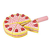 Bigjigs Toys BJ374 Wooden Play Food Strawberry Party Cake
