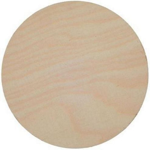 Birch Plaque 100mm dia 4mm thick plywood Pack of 3