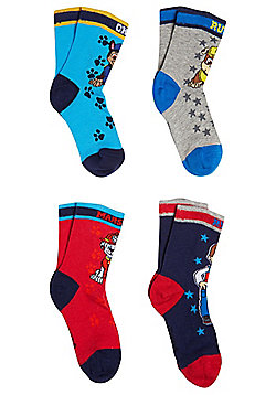 Nickelodeon Paw Patrol 4 Pair Pack of Socks - Multi
