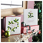 Tesco Luxury Holly Christmas Cards, 10 Pack