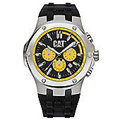 CAT Navigo Mens Rubber Chronograph Date Tachymeter Watch A1.143.21.127