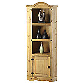 Home Essence Providence Corner Unit in Distressed Waxed Pine