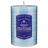 Botanicals Rustic Pillar Candle Medium, Seafoam & Gorse