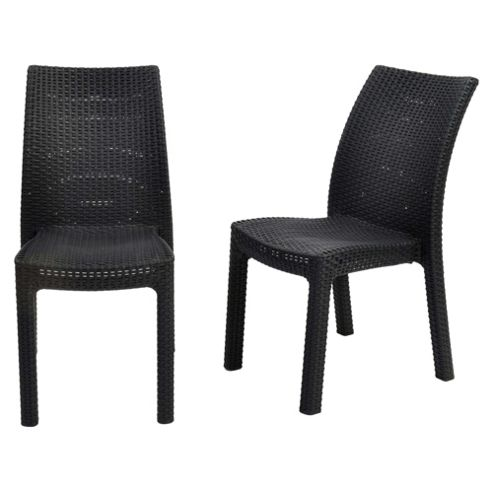 Keter Toscana Rattan Effect Stacking Chair 2pk